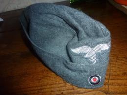 """Accessoire  CALOT MILITAIRE ALLEMAND WWII WW2 UNIFORME TROUPE """"feldmütze"""" De La Luftwaffe - Divise"""