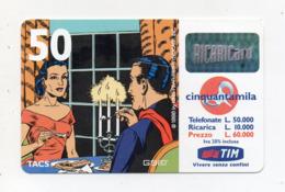 "Ricarica Telefonica "" TIM "" Da Lire 50.000 - Usata - Validità 9.2001 - (FDC17603) - Schede GSM, Prepagate & Ricariche"