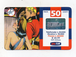 "Ricarica Telefonica "" TIM "" Da Lire 50.000 - Usata - Validità 7.2002 - (FDC17604) - Schede GSM, Prepagate & Ricariche"