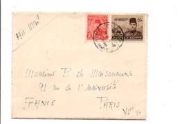EGYPTE LETTRE DU CAIRE FOREIGN TRAFFIC POUR LA FRANCE 1946 - Egypt