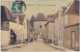Indre - Levroux - Porte Et Rue De Champagne - France