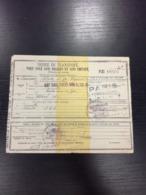 GUERRE 1914 1918  Ordre De Transport Pour Isolé Sans Bagages Et Sans Chevaux en L Etat Sur Les Photos - 1914-18