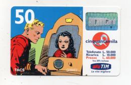"Ricarica Telefonica "" TIM "" Da Lire 50.000 - Usata - Validità 4.2001 - (FDC17605) - Schede GSM, Prepagate & Ricariche"