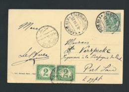 Cpa De Rome Pour Port SAID Taxée Par Egypte Yvert N° 15 X 2  En Juillet 1914 ,  Vac80 - Ägypten
