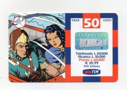 "Ricarica Telefonica "" TIM "" Da Lire 50.000 - Usata - Validità 12.2001 - (FDC17606) - Schede GSM, Prepagate & Ricariche"