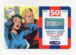 "Ricarica Telefonica "" TIM "" Da Lire 50.000 - Usata - Validità 7.2002 - (FDC17607) - Schede GSM, Prepagate & Ricariche"