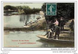 LAGNY THORIGNY - Souvenir De Ma Pêche (pecheurs) - Lagny Sur Marne