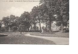 62 ARRAS Cpm Le Jardin Saint Vaast Et L'Ecole Maternelle C.F 56 - Arras