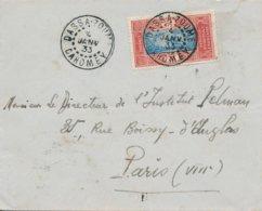 Lettre Du 04/01/1933 Avec Oblitération De Dassa Zoumé (Dahomey - Colonie Française) Arrivée à Paris Le 01/02/1933 - Dahomey (1899-1944)