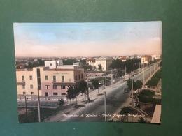 Cartolina Miramare Di Rimini - Viale Regina Margherita - 1957 - Rimini