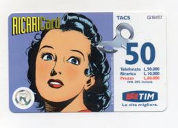 "Ricarica Telefonica "" TIM "" Da Lire 50.000 - Usata - Validità 6.2000 - (FDC17608) - Schede GSM, Prepagate & Ricariche"