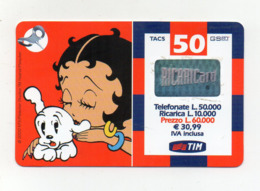 "Ricarica Telefonica "" TIM "" Da Lire 50.000 - Usata - Validità 12.2002 - (FDC17609) - Schede GSM, Prepagate & Ricariche"
