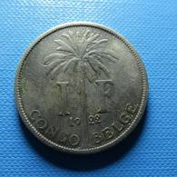 Belgian Congo 1 Franc 1922 - 1910-1934: Albert I