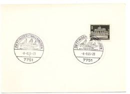 MARINE = DETTINGEN - WALLHAUSEN / Allemagne 1965 = OBLITERATION Illustrée  + VOILIER - Sailing