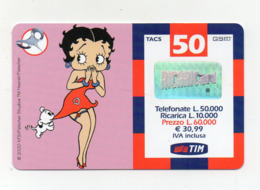 "Ricarica Telefonica "" TIM "" Da Lire 50.000 - Usata - Validità 9.2003 - (FDC17610) - Schede GSM, Prepagate & Ricariche"