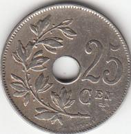 Albert Ier   25 Centimes  (NL)   1913    SUPERBE - 05. 25 Centesimi