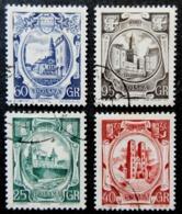 1955 POLSKA / POLOGNE YT 833 / 836 . 4 TIMBRES    Government Building Of West Pomerian Voivodeship - 1944-.... République