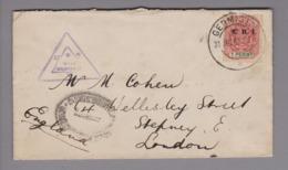 "Südafrika 1902-01-31 Germision 1 Penny Mit Aufdruck ""E.R.I."" R-Brief Nach London - África Del Sur (...-1961)"