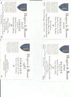 Lot De 4 Etiquettes Bourgogne Hospice De Beaune Différentes - Bourgogne