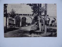 77 LONGUEVILLE La Route De BRAY-Sur-SEINE Sous Le Viaduc Du Chemin-de-Fer Train - Autres Communes