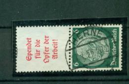 Deutsches Reich, Hindenburg Zusammendruck S 123, Gestempelt - Gebraucht