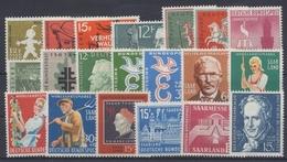 Saarland, MiNr. 429-448, Jahrgänge 1958-1959, Postfrisch / MNH - Ohne Zuordnung