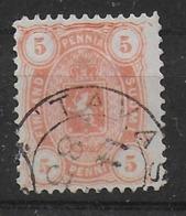 Finland 1883 5P Orange Error Orange Dot In Upper Right Corner - 1856-1917 Russian Government