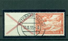 Deutsches Reich, Nothilfe Wagner Zusammendruck W 51, Gestempelt - Gebraucht