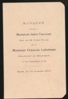 GENT MENU 1927 - BANQUET OFFERT A Mr.J.TACCOEN ROI DU R.CODY CLUB ET A Mr.FR.LAFORTUNE CHAMP. DE BELGIQUE A LA CARABINE - Menus