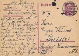 Entier Postal Allemagne 1935 Oblitération De Angermünde Pour Paris - Germany