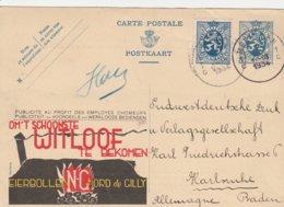 Belgique Entier Postal Illustré Publibel  Pour L'Allemagne 1934 - Entiers Postaux