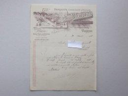 TROYES (10): Facture 1900 SCIERIE Commerce De Bois Parquet Chauffage - P. MICHEL - Faubourg CRONCELS - Francia