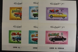 Umm Al-Qaiwain, MiNr. 637-642 B Einzelblöcke, Postfrisch / MNH - Umm Al-Qaiwain