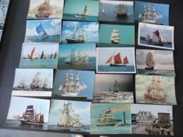 LOT  DE 110   CARTES  POSTALES  SUR  LES   VOILIERS  ET   BATEAUX  A  VOILE - Cartes Postales