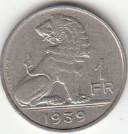 Leopold III  1 Franc   (NL - FR)   1939 - 04. 1 Franco