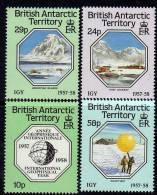Antarctique Britanique N° 164 / 67 XX 30ème Anni. De L'année Géophisique Intern. Les 4 Val. Ss Charnière,TB - Territoire Antarctique Britannique  (BAT)