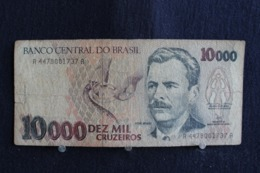 92 / Brésil, Banco Central Do Brasil, 10000  Cruzeiros   /  N° A 4478001737 A - Brésil