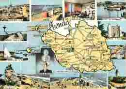 85 - Vendée - Multivues - Carte Géographique - Voir Scans Recto-Verso - Autres Communes