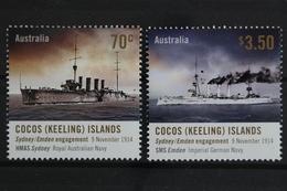 Kokos-Inseln, Schiffe, MiNr. 503-504, Postfrisch / MNH - Kokosinseln (Keeling Islands)