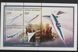 Zentralafrik. Republik, Flugzeuge, MiNr. 2243-2246 KB, Postfrisch / MNH - Zentralafrik. Republik
