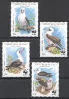 B005 CHRISTMAS ISLAND INDIAN OCEAN WWF FAUNA BIRDS 1SET MNH - W.W.F.