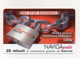 "Scheda Telefonica "" Naviga Gratis "" - Full Business Security - 30 Minuti - Nuova - Scadenza 1.4.2005 - (FDC17616) - Schede GSM, Prepagate & Ricariche"