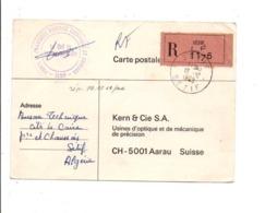 ALGERIE CARTE EN RECOMMANDE DE SETIF POUR LA SUISSE 1969 - Algeria (1962-...)