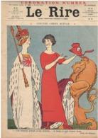 Le Rire N°438 - 24.06.1911 - Gervèse Marine Matelot - Roubille - N° Spécial Roi & Reine Angleterre - Books, Magazines, Comics
