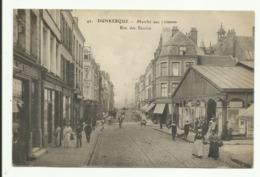 Cpa  DUNKERQUE , Marché Aux Poissons , Rue Des Bassins - Dunkerque