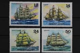 Samoa, MiNr. 403-406, Segelschiffe, Postfrisch / MNH - Samoa