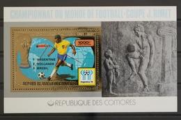 Komoren, MiNr. Block 181 A, Fußball WM 1978 Mit, Postfrisch / MNH - Komoren (1975-...)