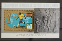 Komoren, MiNr. Block 123 A, Fußball WM 1978, Postfrisch / MNH - Komoren (1975-...)