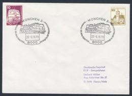 Deutschland Germany 1979 Brief Cover - 100 Jahre Elektr. Triebfahrzeuge Im AW München-Freimann / Repair Work - Treinen