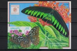 Vanuatu, MiNr. Block 32 Skl, Schmetterlinge, Postfrisch / MNH - Vanuatu (1980-...)